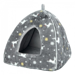 XMAS RUDOLF CUDDLY CAVE 38X35X38CM GREY - Click for more info