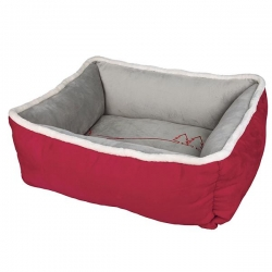 XMAS WONDERLAND BED 75X65CM RED/GREY - Click for more info